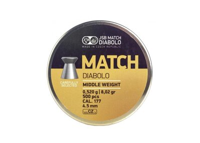 Diabolo JSB Match Middle weight 4,5mm/500ks