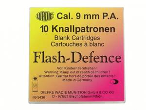 Flash Defence náboje 9mm pištoľ
